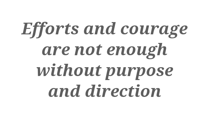 [Image] Purpose and direction are required