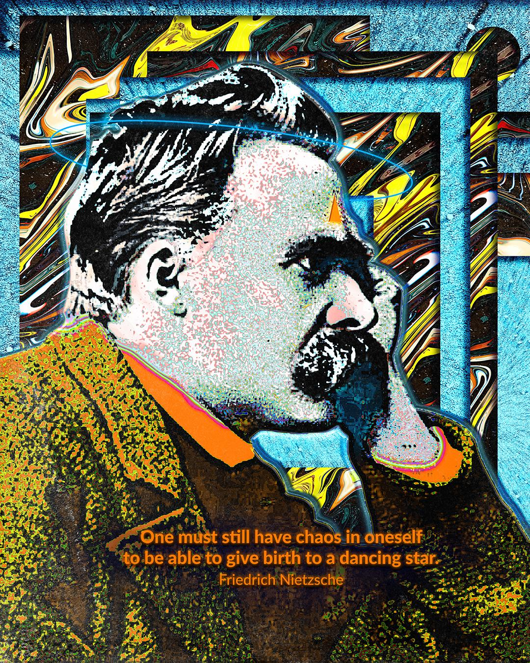"""One must still have chaos in oneself to be able to give birth to a dancing star."" – Friedrich Nietzsche [1080 x 1350]"
