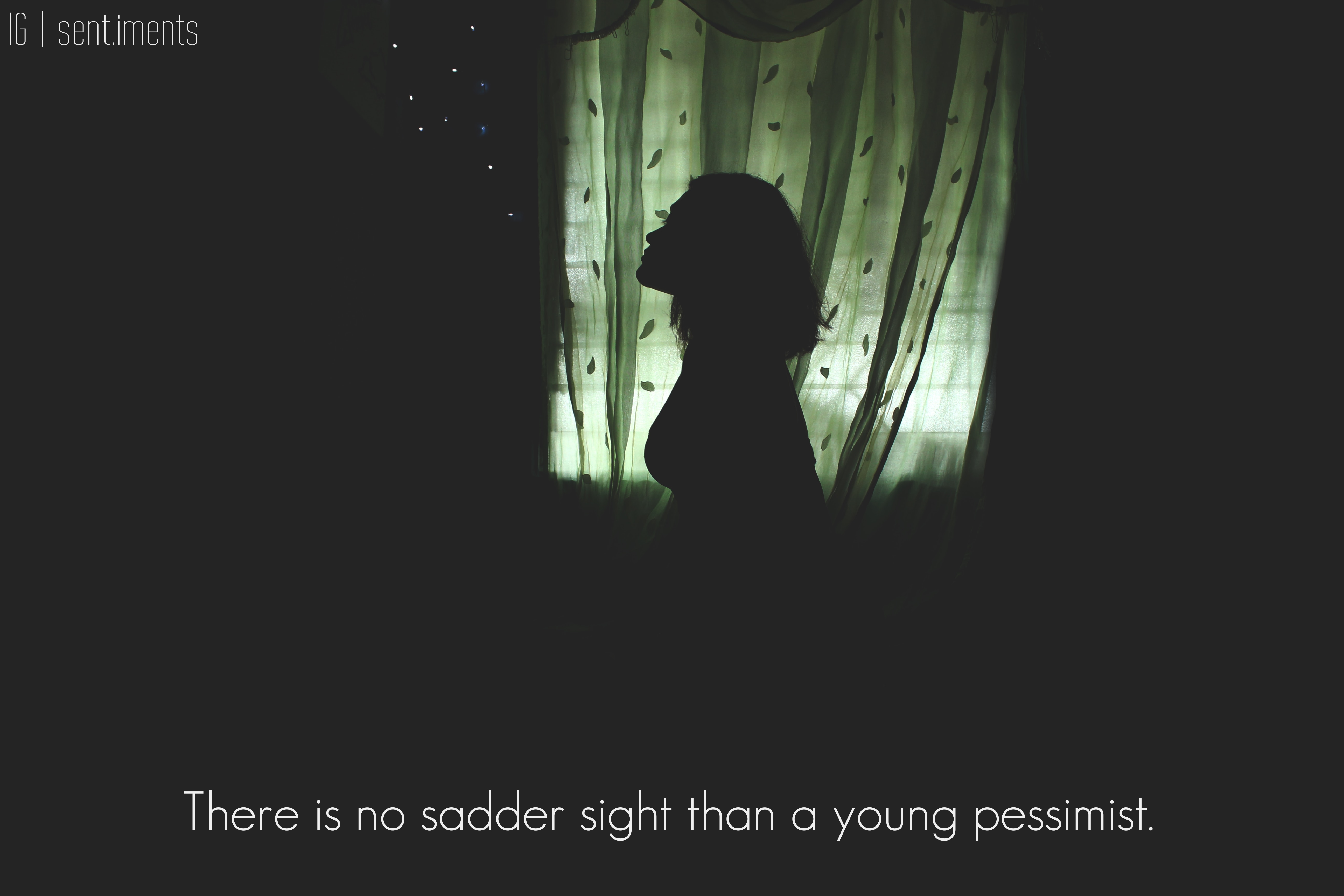 """There is no sadder sight than a young pessimist"" by Mark Twain [5184 X 3456]"