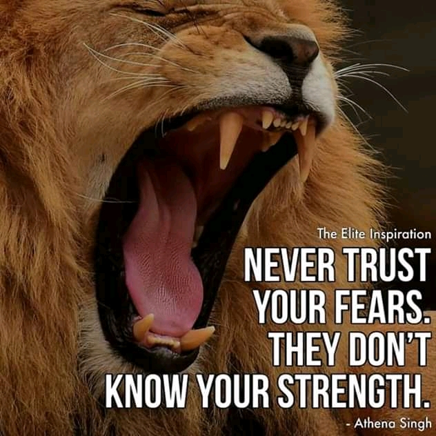 """Never Trust Your Fears. They Don't Know Your Strength . – Athena Singh – [800×1080]"