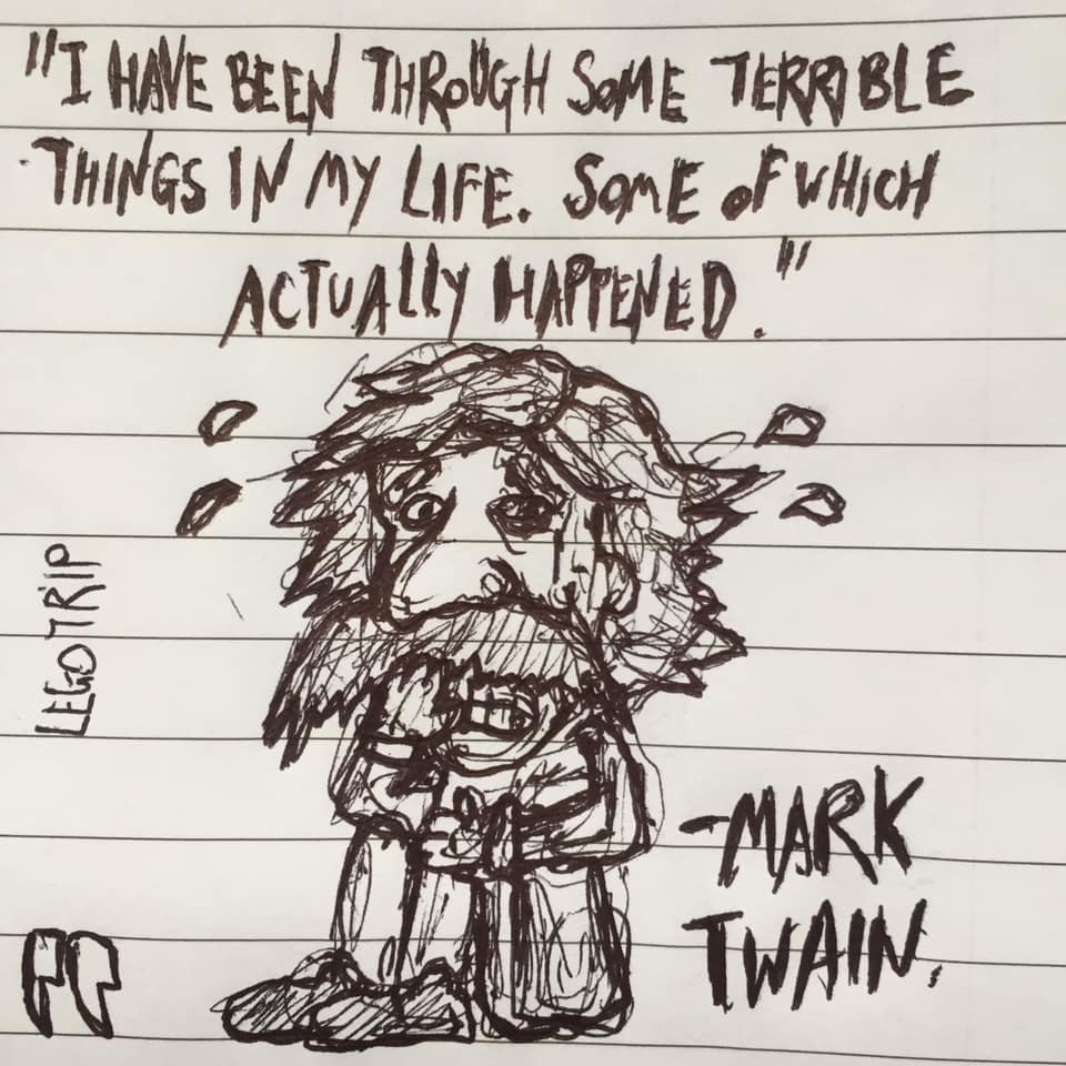 """I have been through some terrible things in my life. Some of which actually happened."" – Mark Twain [960×960]"