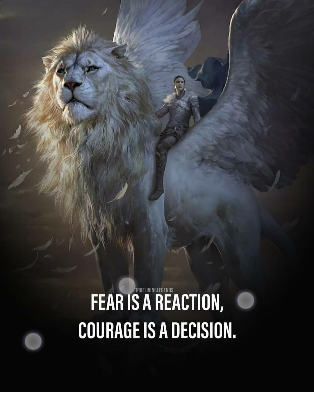 Fear is reaction, courage is a decision – unknown(1080*1353)