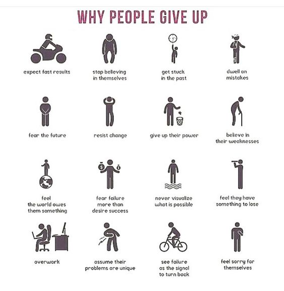[Image] The reasons people give up…