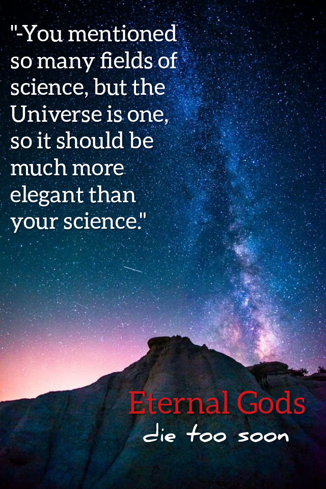 """Universe should be much more elegant than Science"" Eternal Gods Die Too Soon by Beka Modrekiladze [640×960]"