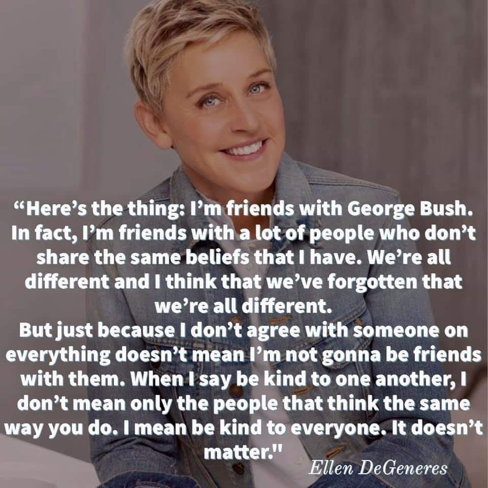Be kind to one another – Ellen DeGeneres (960×960)