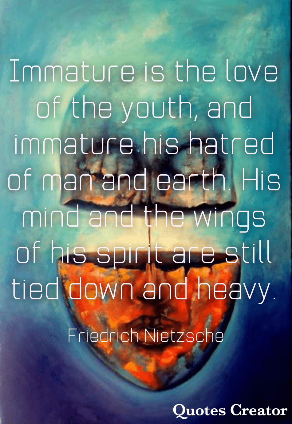 "[950×1379] ""Immature is the love of the youth…"" – Friedrich Nietzsche"