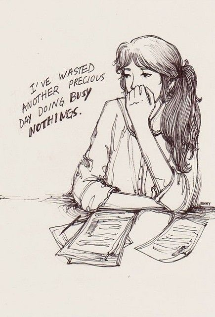 """[Image] Jenny Yu, """"I've wasted another precious day doing busy nothings"""""""
