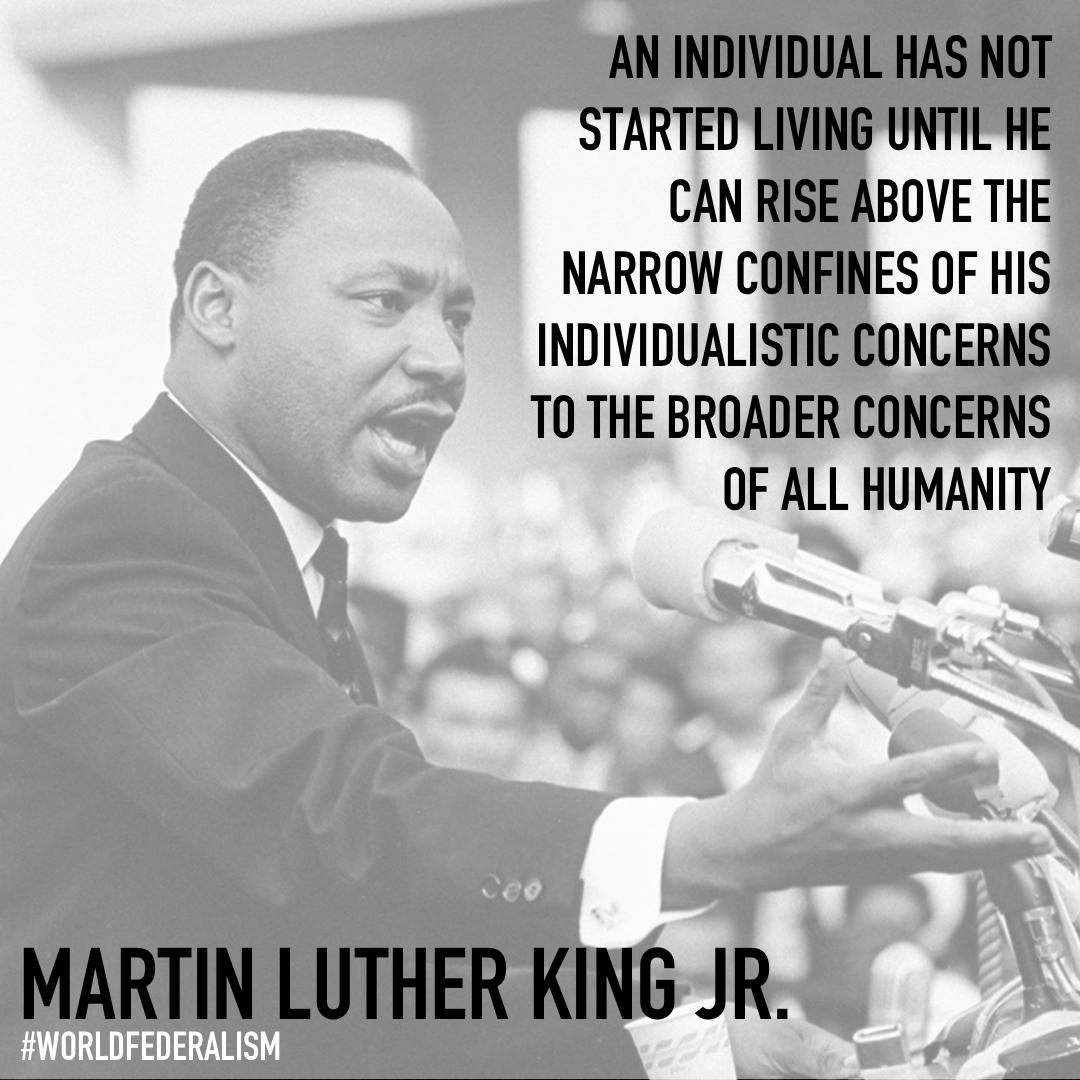 """An individual has not started living until he can rise above the narrow confines of his individualistic concerns to the broader concerns of all humanity"" – M.L.King [1080×1080]"