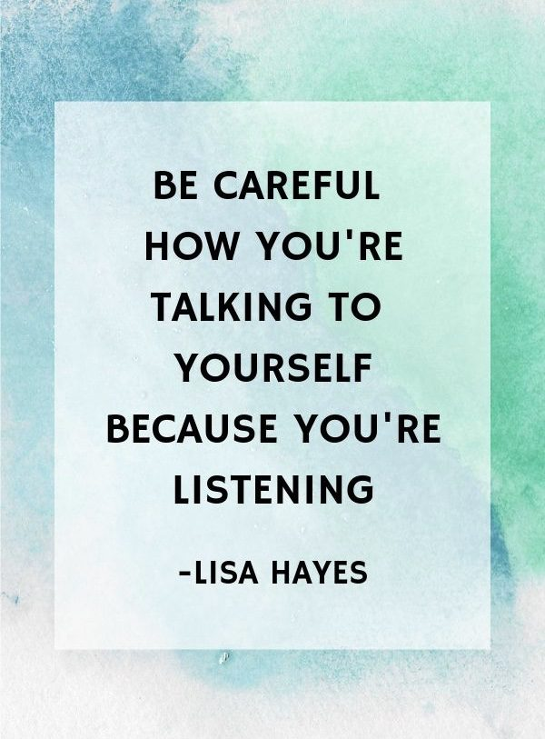 [Image] Be careful how you talk about yourself