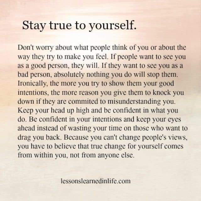 [Image] Stay True to Yourself