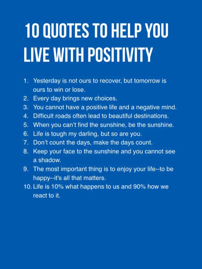 [Image] Life Has Changed When You Choose To Be Positive