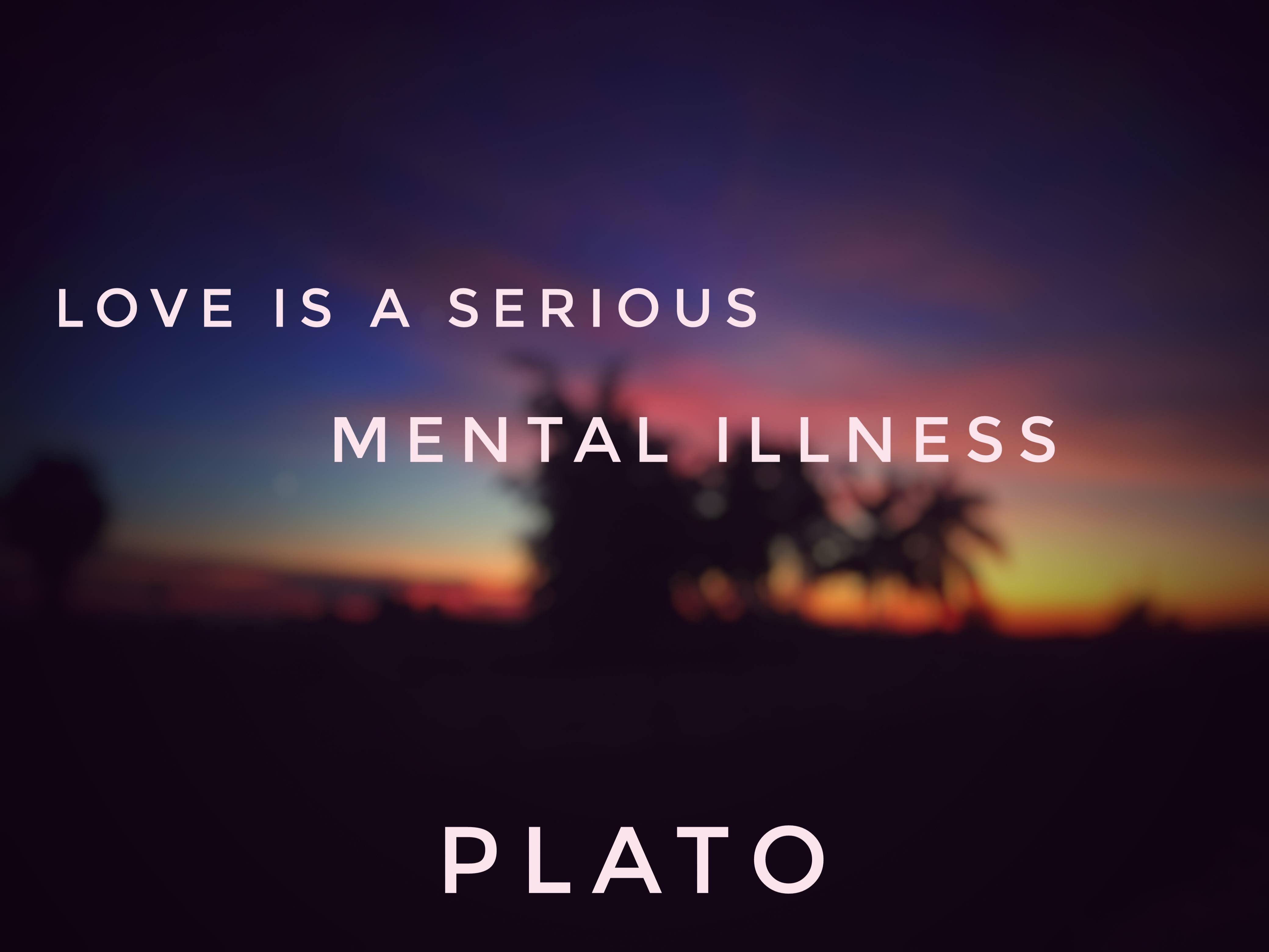 """Love is a serious mental illness.""-Plato [4160×3120]"