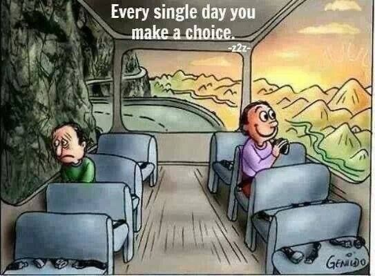 "[Image] ""Every single day you make a choice."" This image helps me remember that I have full control over my reactions to my environment. In what ways does it help you?"