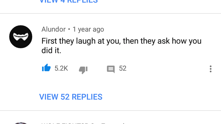 [Image] first they laugh at you