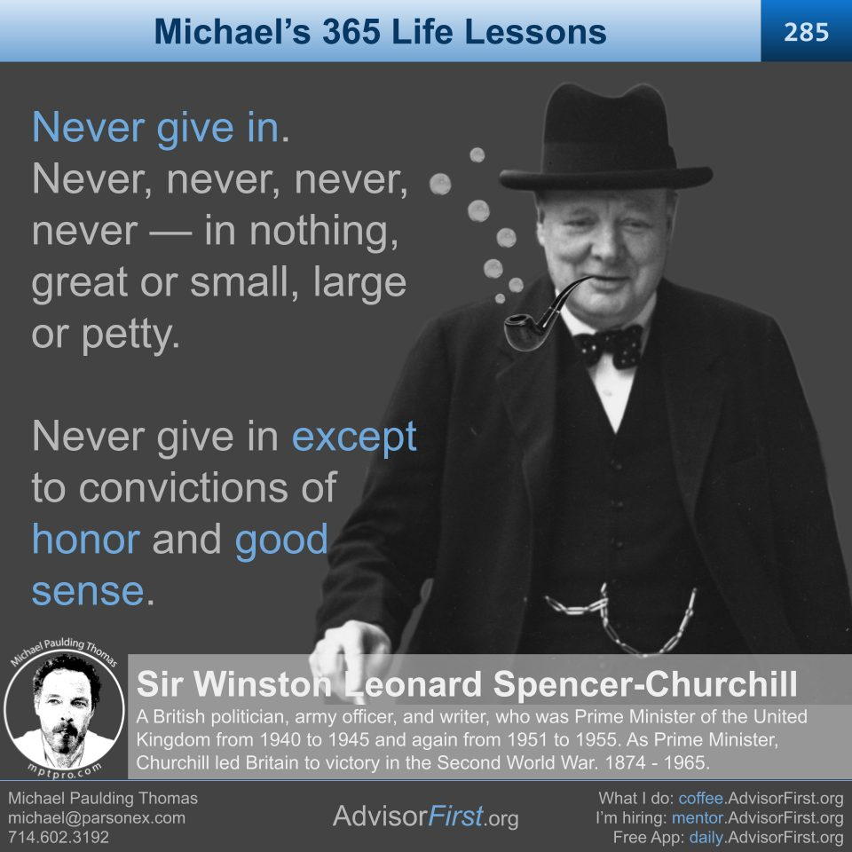 Never Give In -Winston Churchill (960 x 960)
