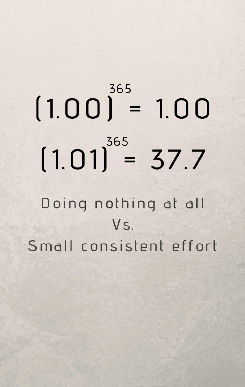[Image] It's better to do something than to do nothing at all