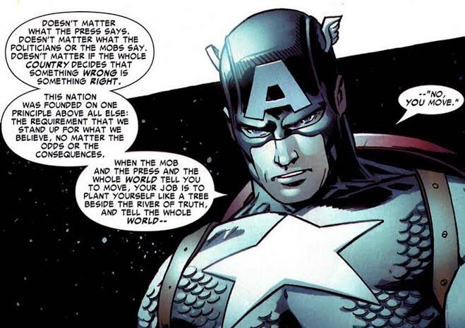"[IMAGE] ""Tell the whole world 'No, you move.'"" -Captain America"