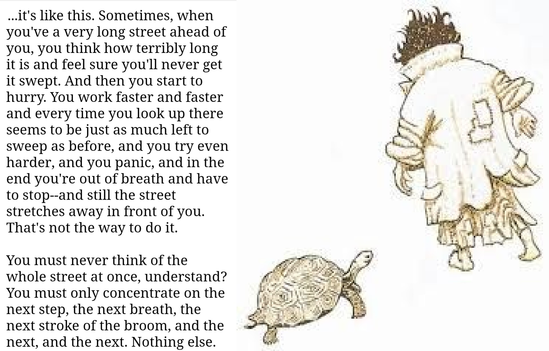 """Sometimes, when you've a very long street ahead of you, you think how terribly long it is and feel sure you'll never…"" – Michael Ende ""Momo"" [1920 x 1227]"