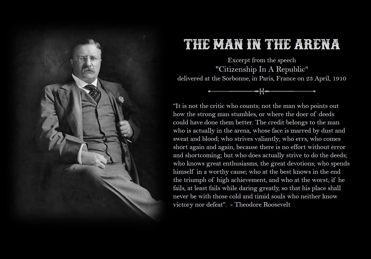 """The man in the arena…"" -Theodore Roosevelt [1440 x 1008]"