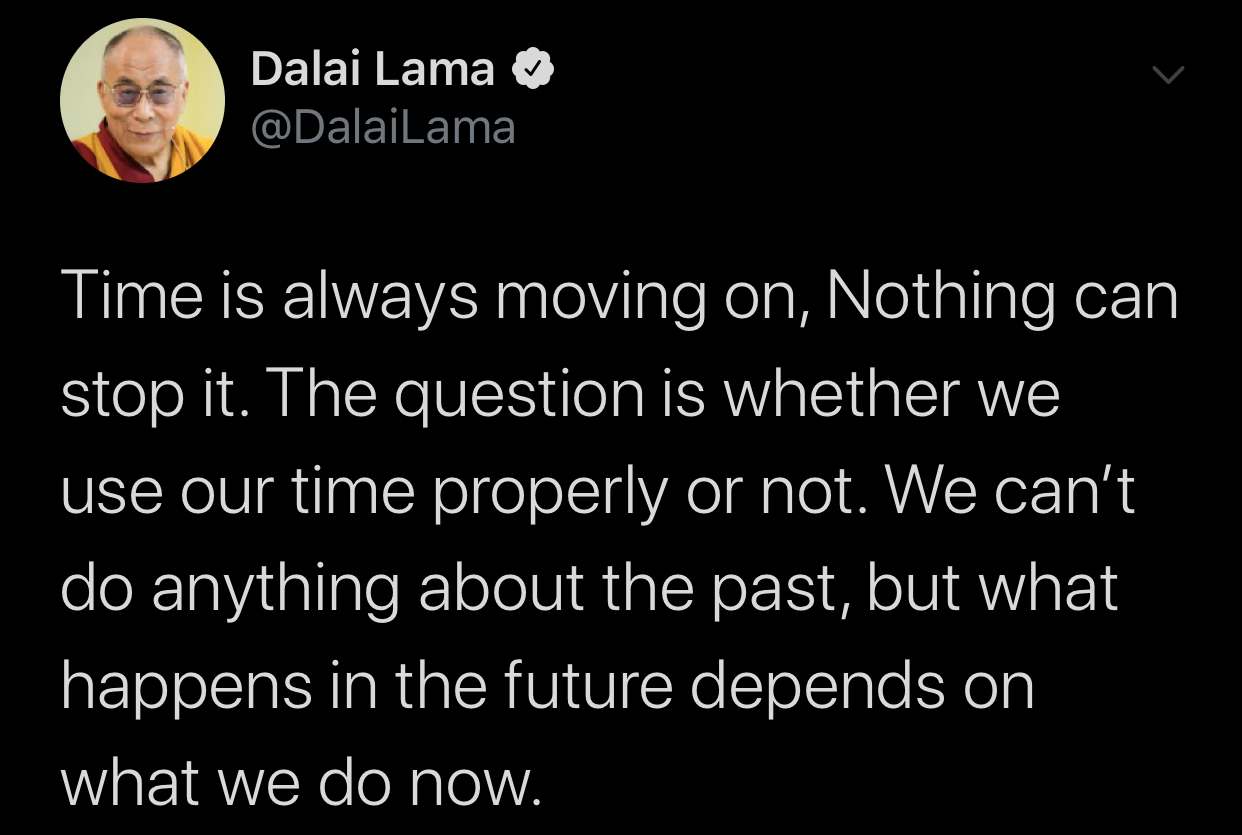 [Image] The time is now.