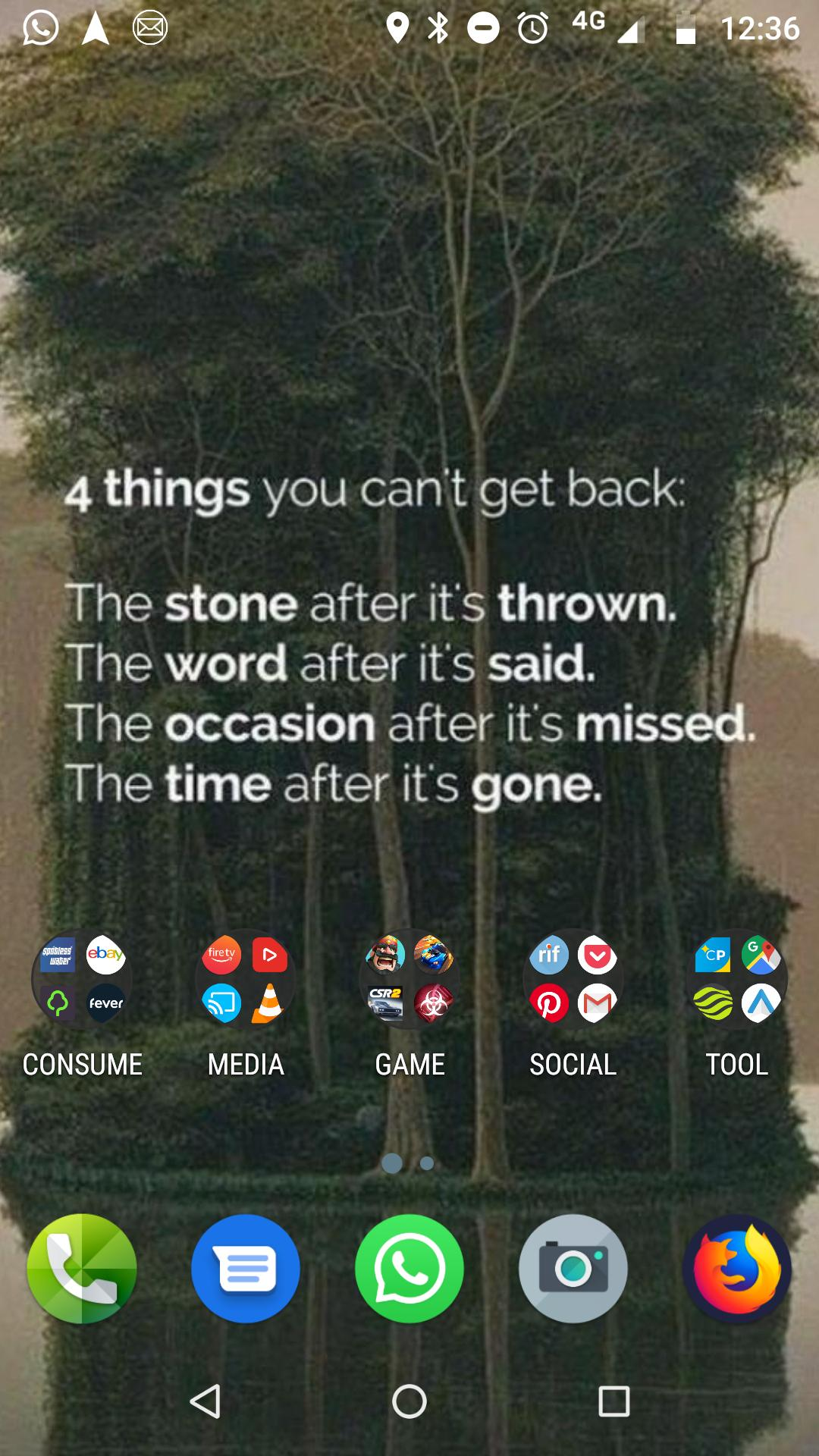 [image] Many of the images with supposedly pithy monologues or one liners do nothing for me. The four sentences on this always stand up to scrutiny and always ring true. So I keep it as phone desktop.