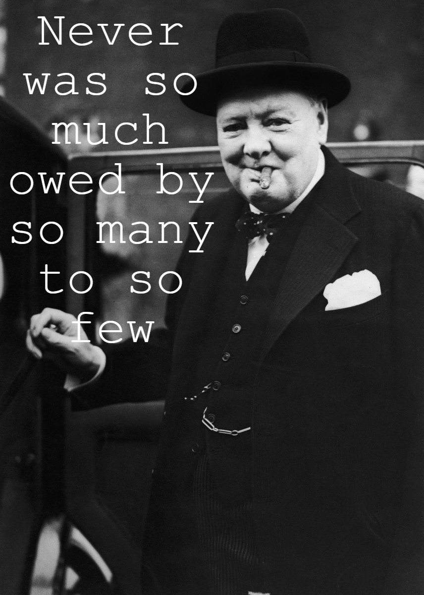 """Never was so much owed by so many to so few"" – Winston Churchill [856 x 1200]"
