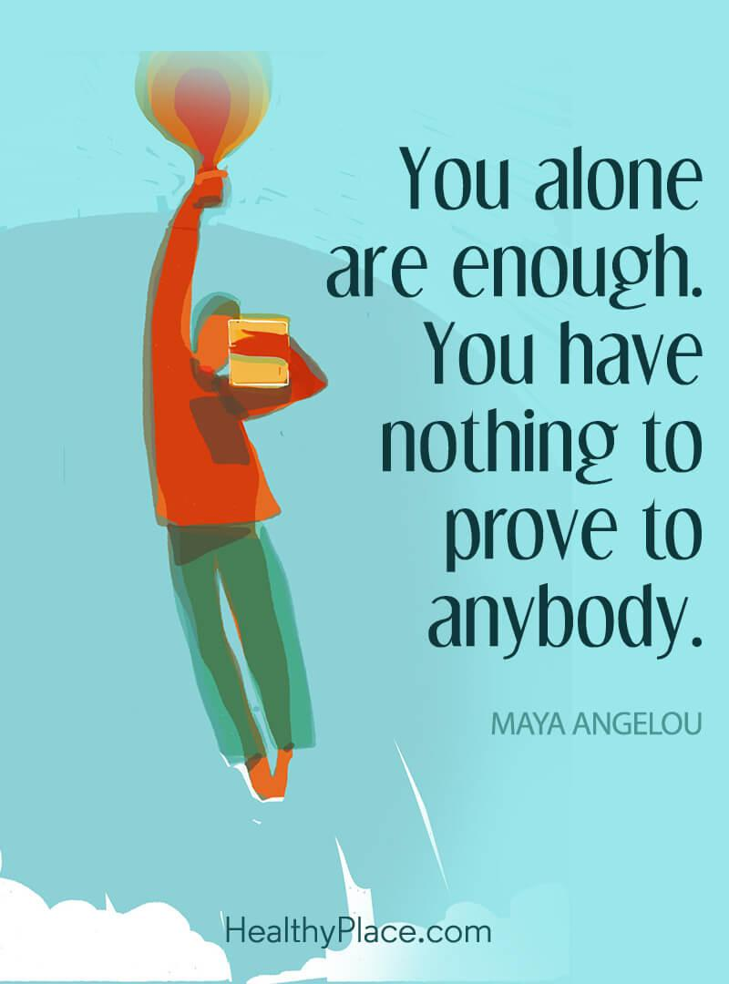 [Image] You are enough.