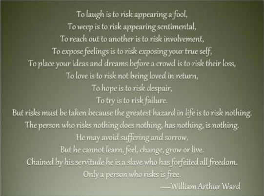 [Image] A poem about risk