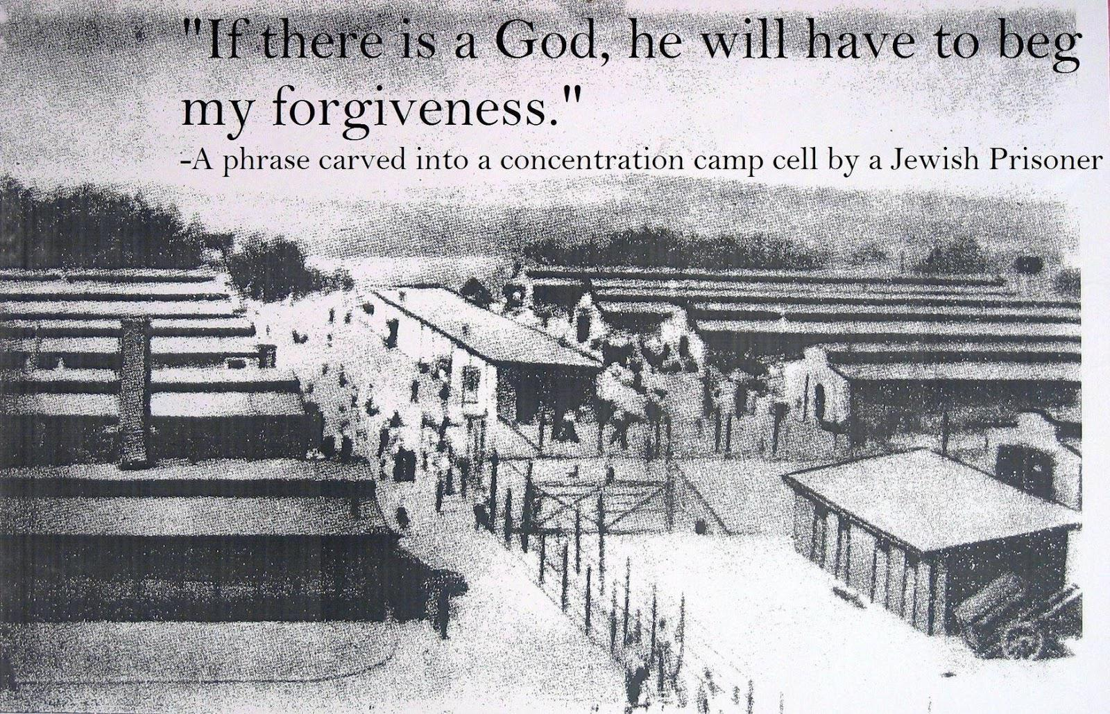 """If there is a God, he'll have to beg for my forgiveness"" – Carved on the walls of a concentration camp [1600 x 1030]"