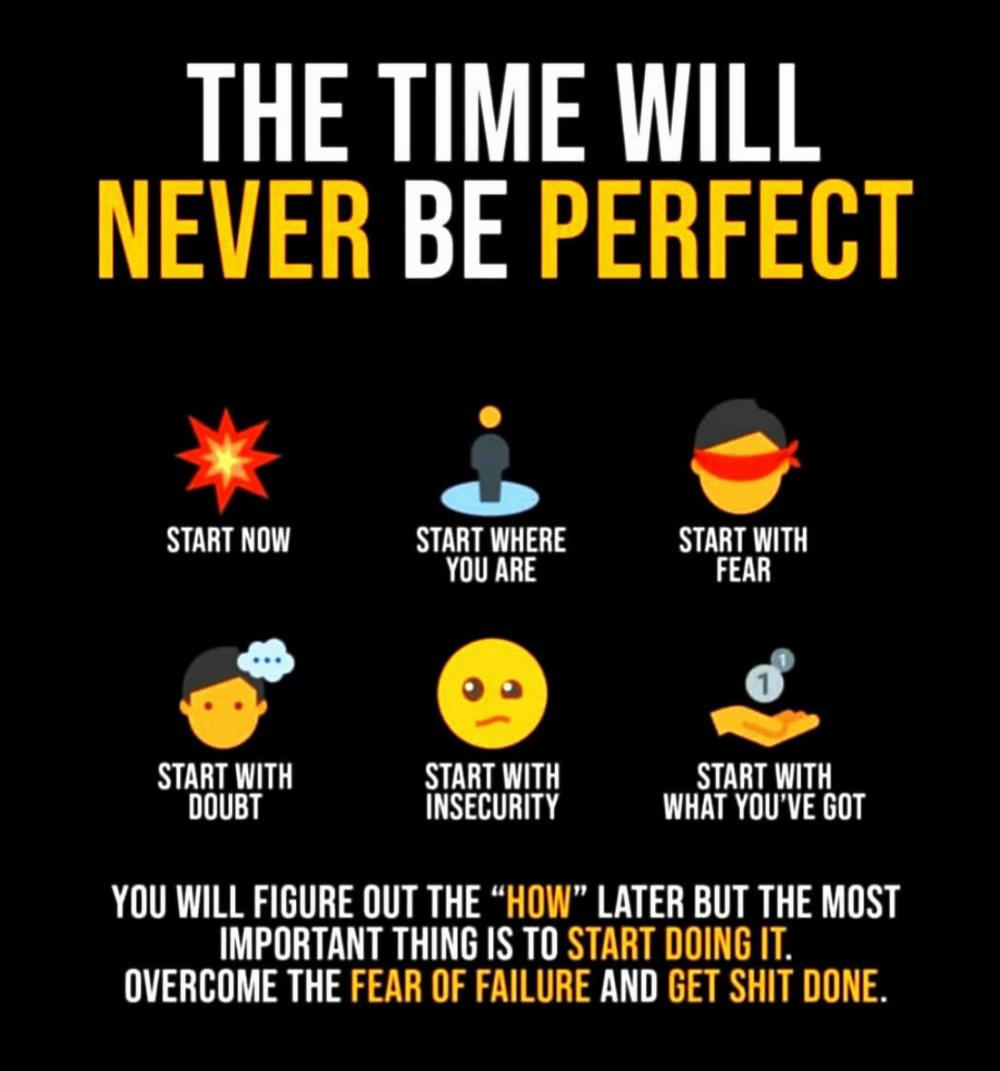 [IMAGE] Time will never be perfect.