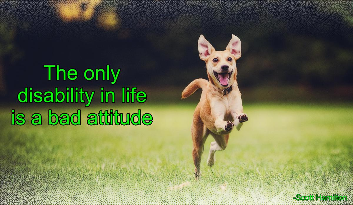 [Image] The only disability in life is a bad attitude