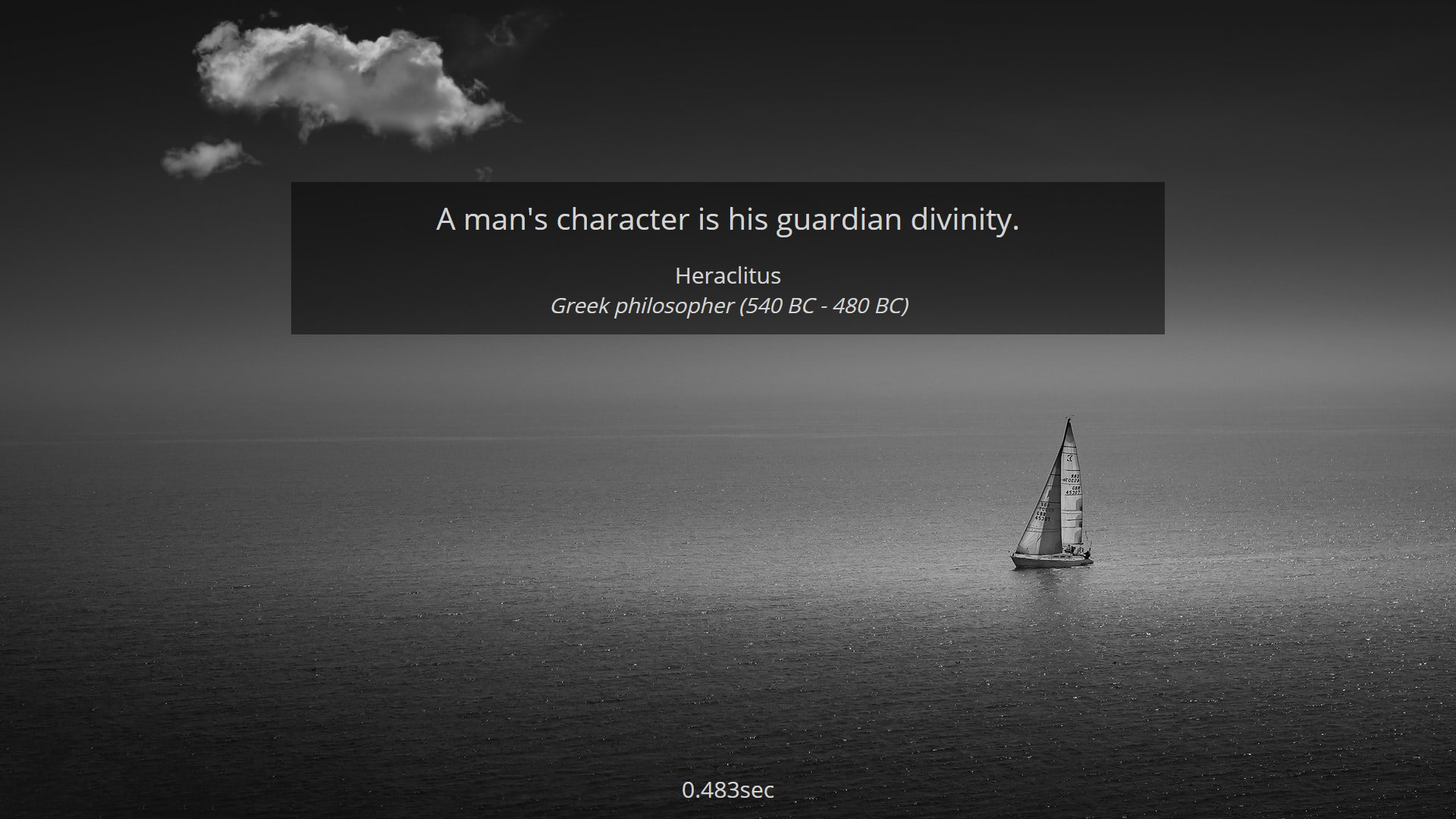 A man's character is his guardian divinity – Heraclitus (1920×1080)