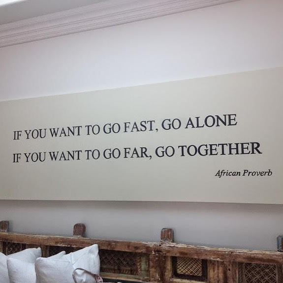 IF YOU WANT TO GO FAR, GO TOGETHER https://inspirational.ly
