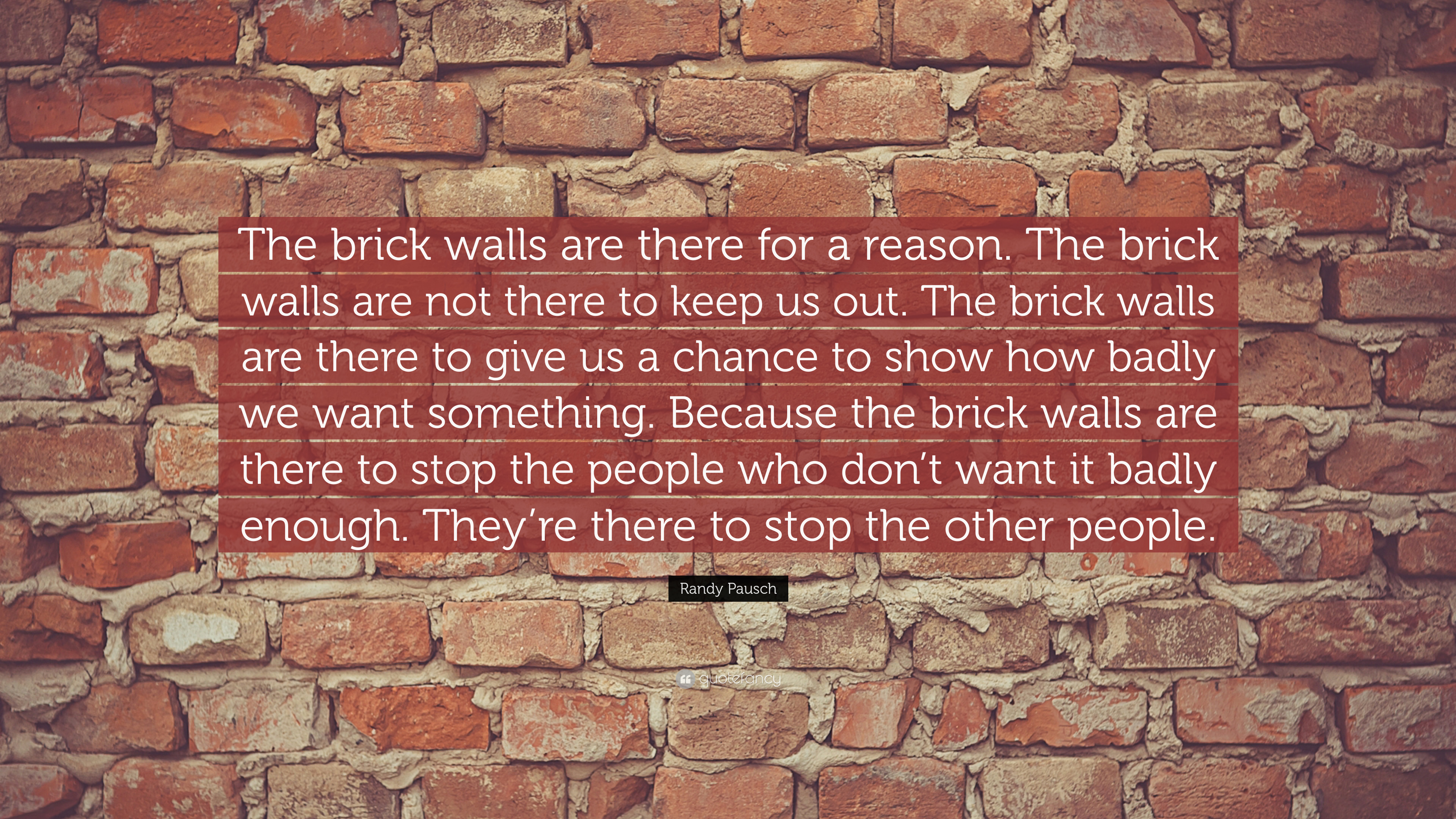 [Image] Brick Walls are there for a reason