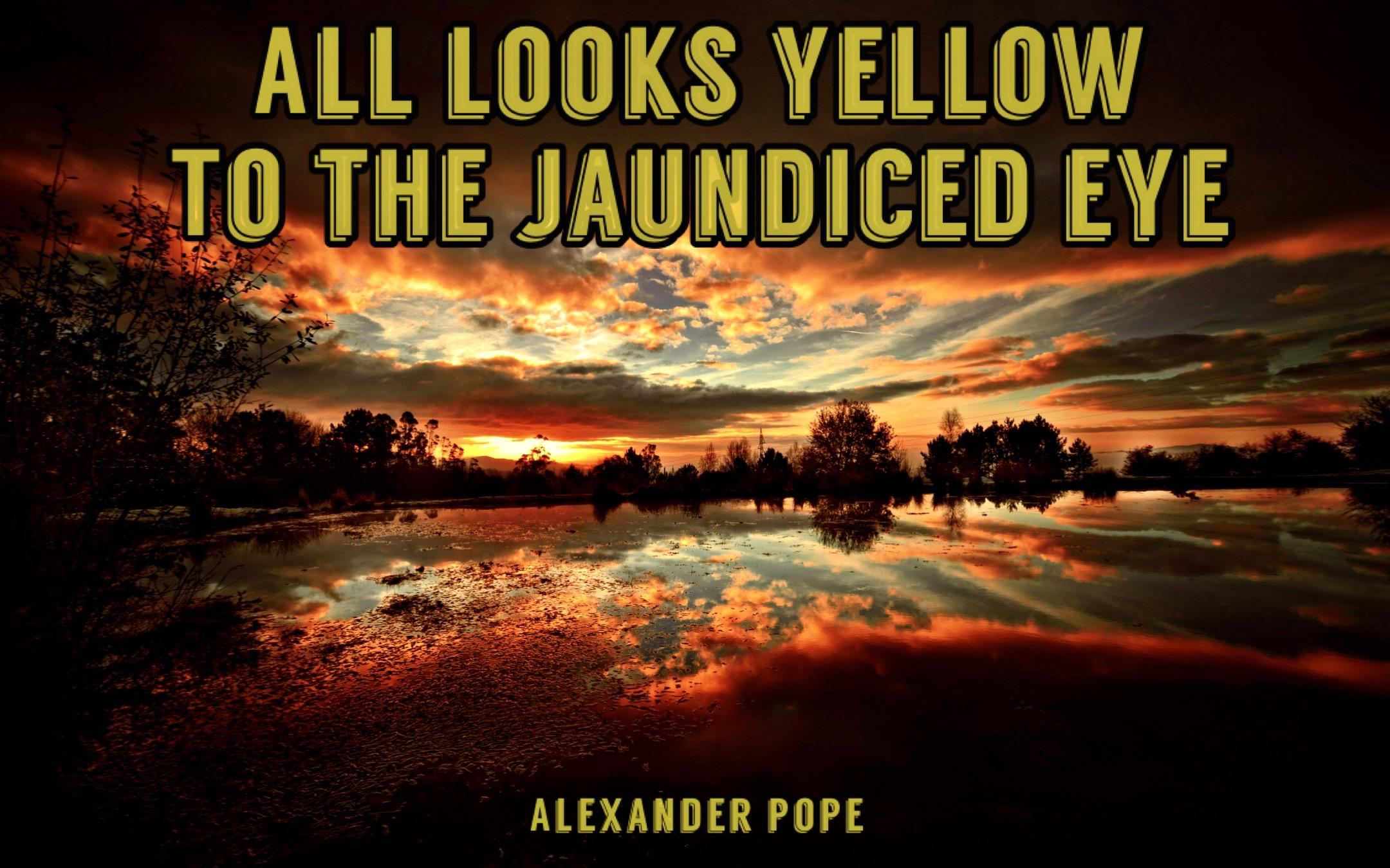 All looks yellow to the jaundiced eye -Alexander Pope [2880 X 1800]