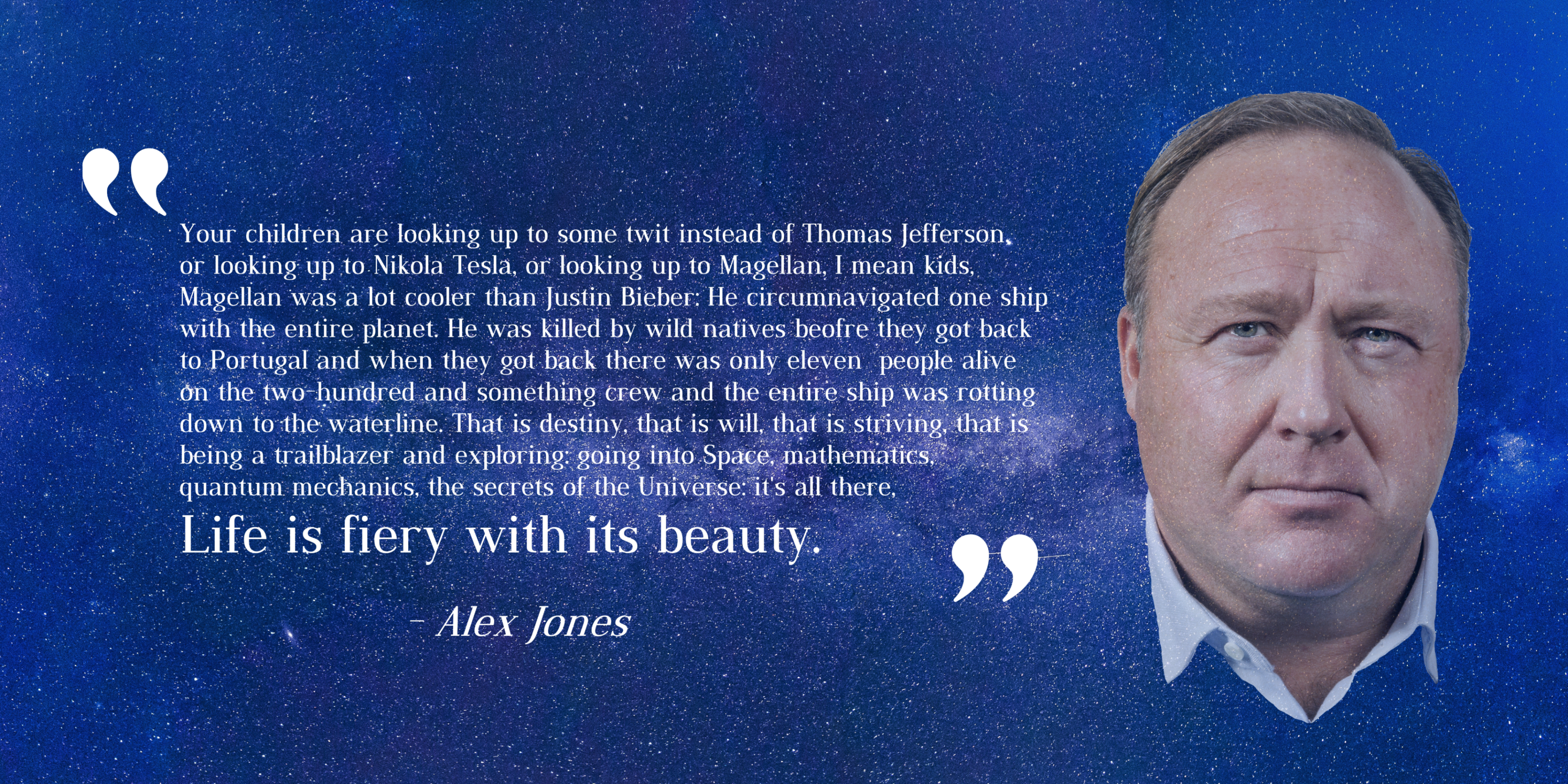 'Your children are looking up to some twit instead of…' – Alex Jones [3778X1889]