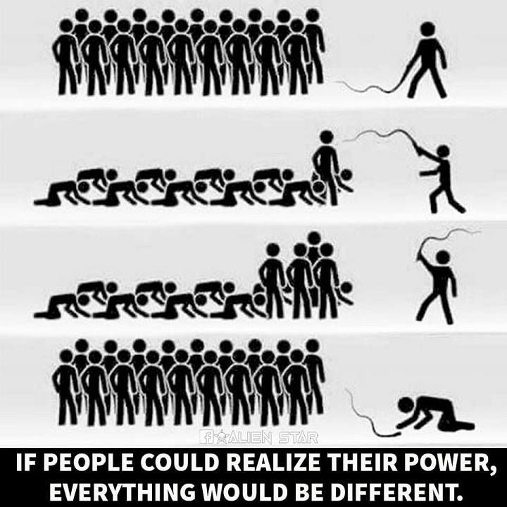 [Image] If people could realize their power, then everything would be different.