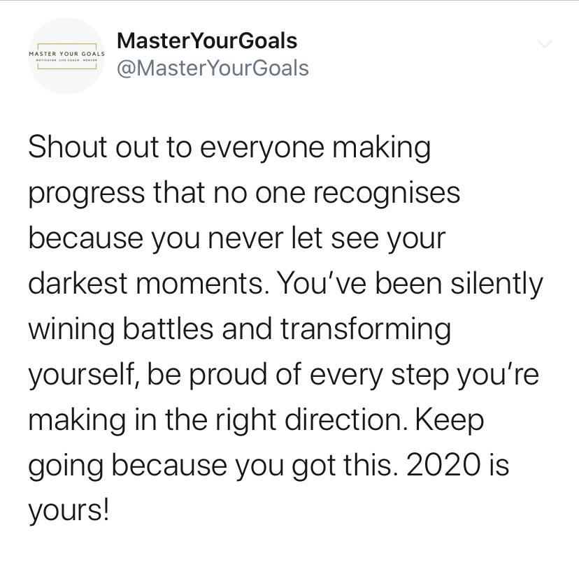 [IMAGE] Be Proud Of Your Achievements & Smash it in 2020