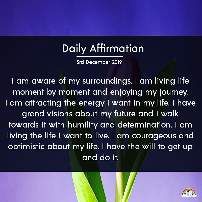 [Image] Daily Affirmation – 3rd December 2019