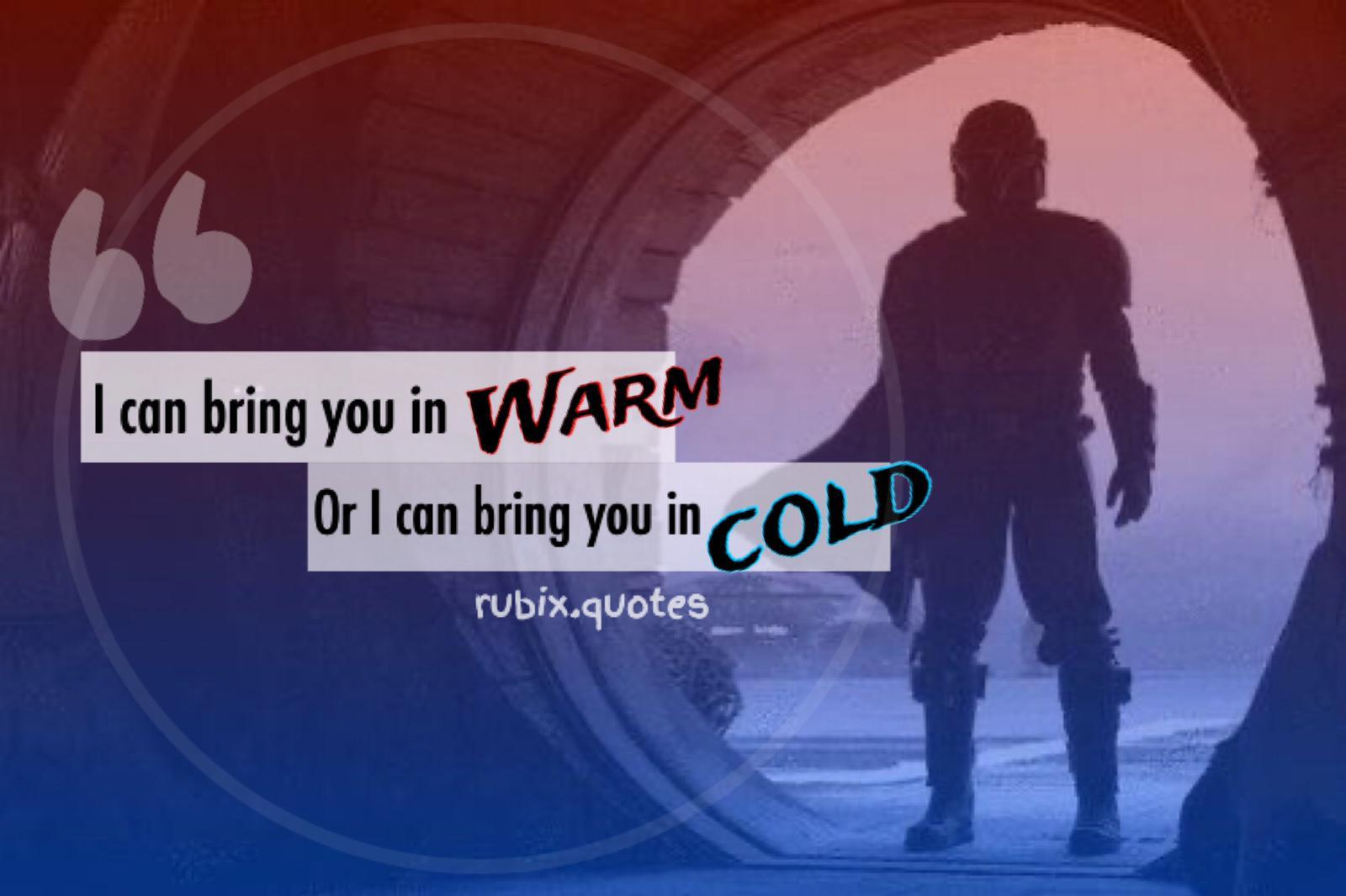 'I can bring you in warm, or I can bring you in cold' – The Mandalorian [1600×1066]