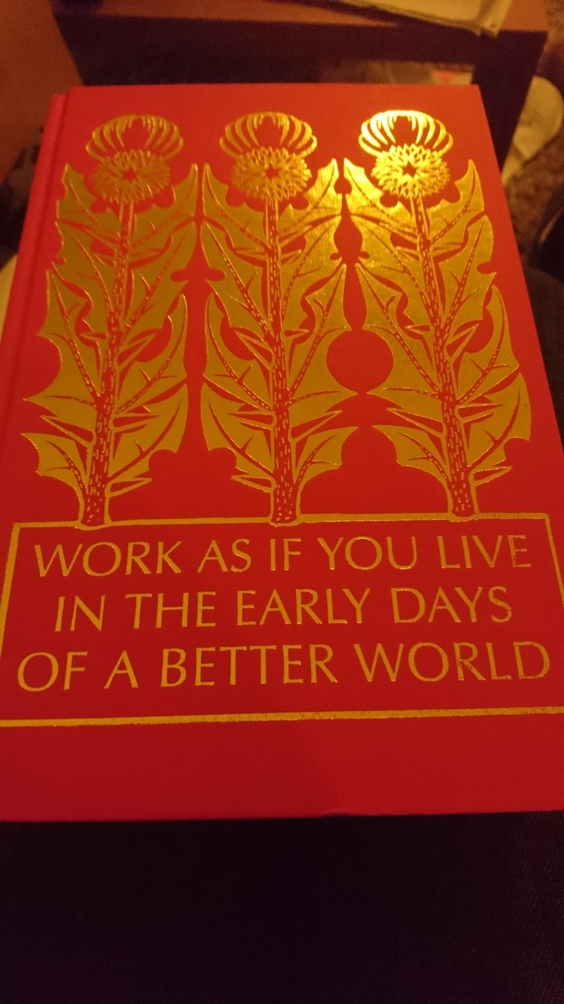 [Image] Work as if you live in the early days of a better World.