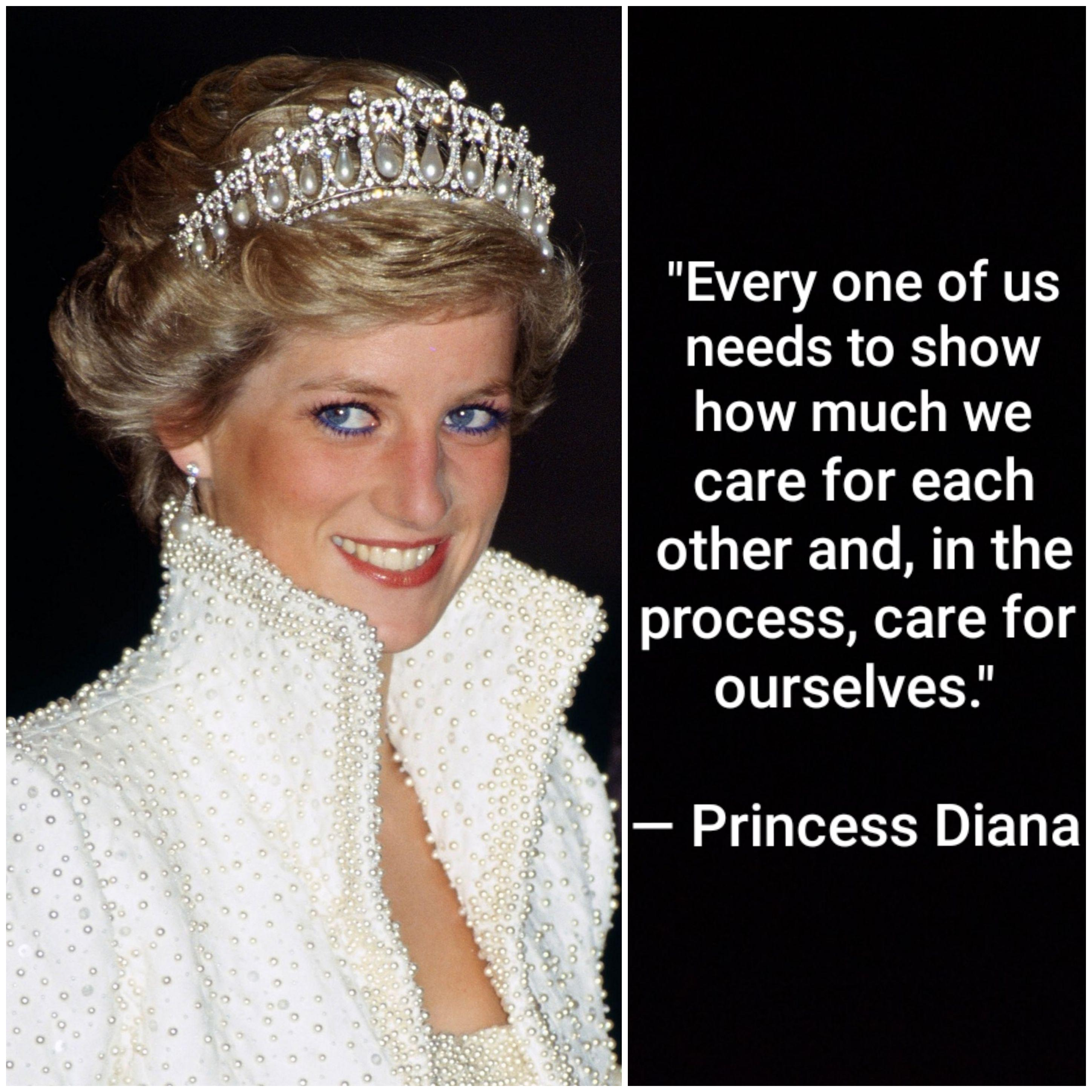 """Every one of us needs to show how much we care for each other and, in the process, care for ourselves."" – Princess Diana [2896×2896]"