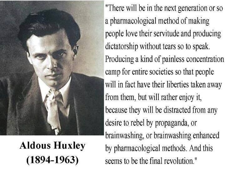 There will be, in the next generation or so, a pharmacological method of making people love their servitude,…-Aldous Huxley(1080×800)