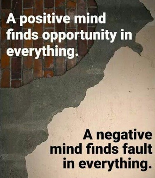 [Image] Positive mind vs Negative mind