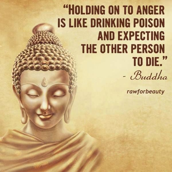 Holding on to anger is like drinking poison and expecting the other person to die – Buddha [600×600]