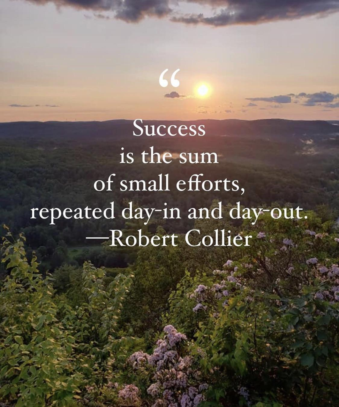 [Image] Success is the sum of small efforts… Robert Collier
