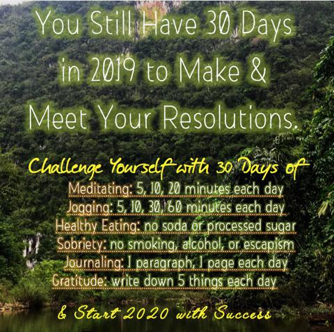 [Image] If today is still included, we've got 30 days left in 2019. Now is a perfect time to pick up a 30-day challenge to accomplish something before the new year!