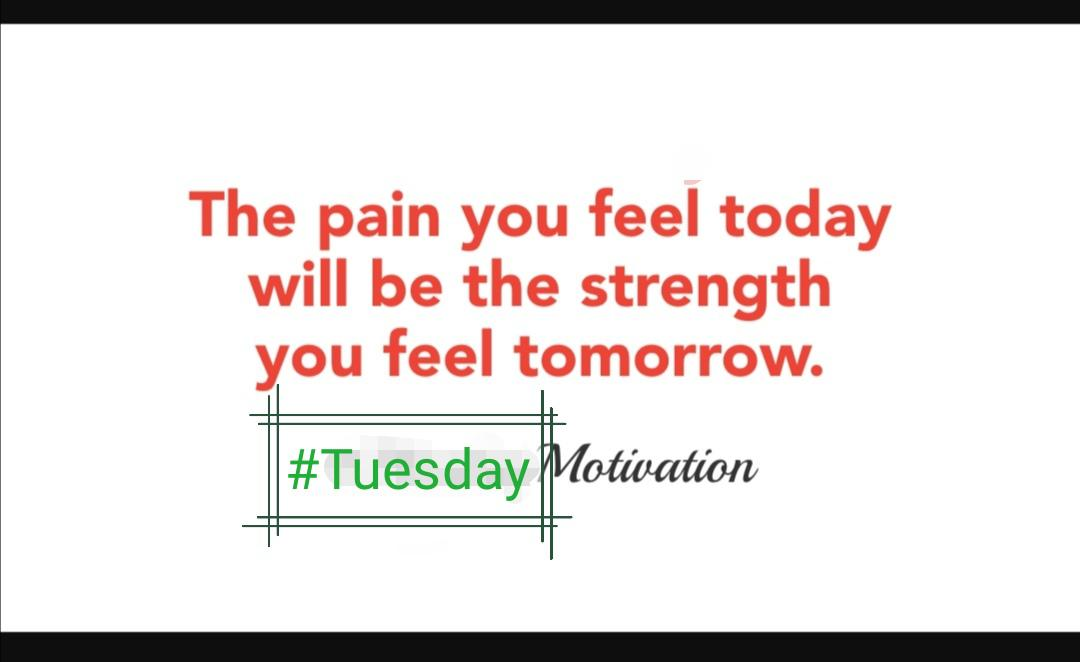 The pain you feel today will be the strength you feel tomorrow. I-i mm https://inspirational.ly