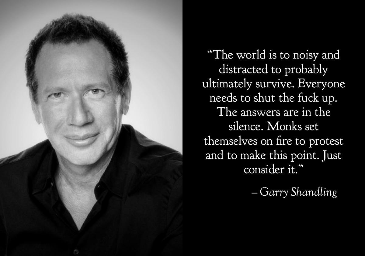 """The world is to noisy""- Garry Shandling [800×1200]"