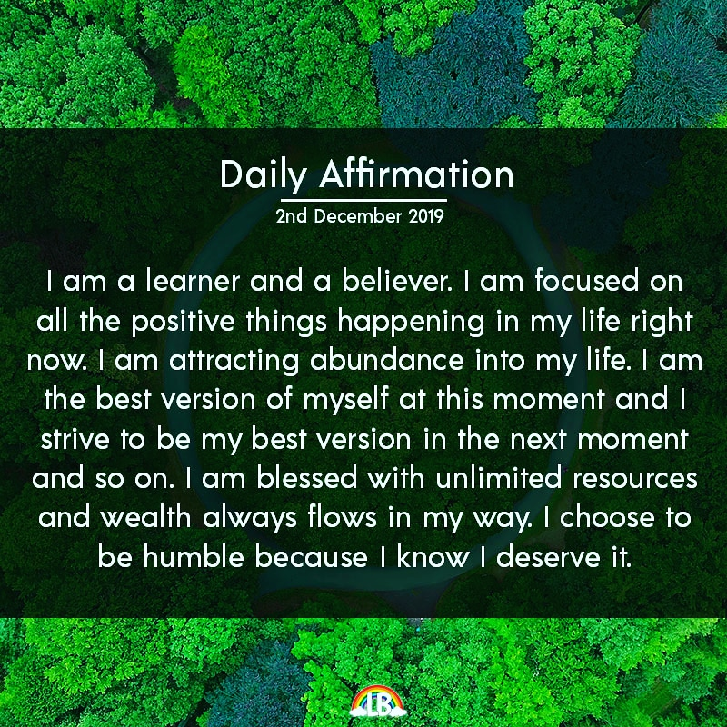 [Image] Daily Affirmation – 2nd December 2019